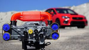 subaru boxer engine 3d printed subaru wrx engine how boxer engines work youtube