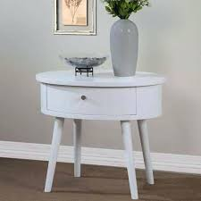 side table antique white round bedside tables white gloss round