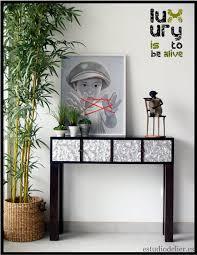 consolas muebles estudio delier consola luxury 90x75x26cm