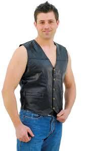 leather vest patch leather vest vm551p