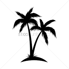 palm tree svg silhouette of coconut tree vector image 1902987 stockunlimited
