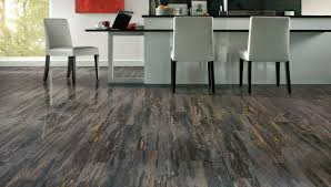 rustic modern luxury vinyl flooring for kitchen with white leather