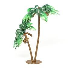 large palm tree with coconuts cake topper 4 count