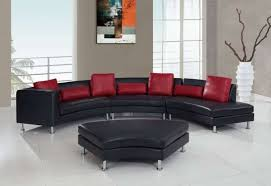 charming black leather ottoman coffee table 25 contemporary curved