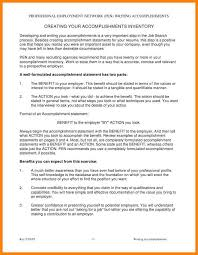 Resume With Accomplishments Resume Accomplishment Samples Cbshow Co