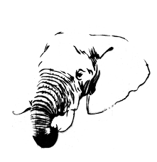 elephant stencil free download clip art free clip art on