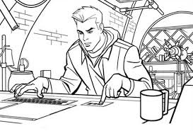 tron sam flynn operate computer coloring pages color luna