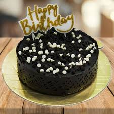 online birthday cake send chocochip cake with happy birthday candle online by