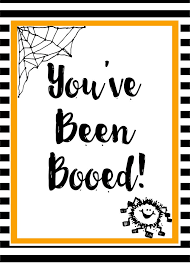 you ve been booed free printable with