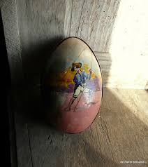 large paper mache egg antique large paper mache egg candy container clown shabby