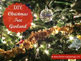diy easy tree garland generous savings