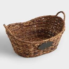 empty gift baskets baskets decorative storage wicker weave baskets world market