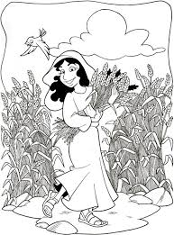 bible stories for toddlers coloring pages coloring pages for children on the story of ruth and naomi