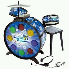 Drum Set Lights Electronic Toy Drum Set Lights Loudspeaker Volume Control