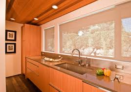 mid century modern kitchen cabinets glass door brown kitchen cabin