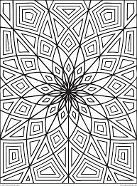 geometric flower coloring pages coloring home