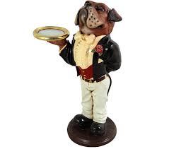 boxer dog statue 2ft boxer dog butler statue