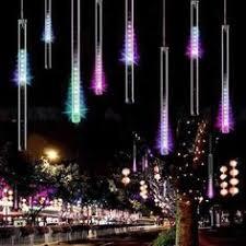 144 led meteor shower waterproof lights white set of