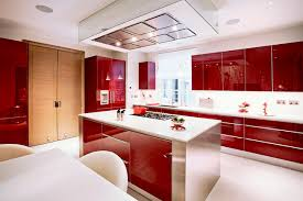 red cabinets in kitchen lacquer kitchen cabinets houzz