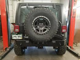 jeep rear bumper with tire carrier jk rear bumper mid width bare 07 pres wrangler jk tnt customs