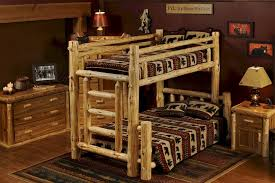 norway pine twin over queen bunk bed for adults and children the