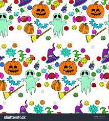 pumpkins border clipart halloween set pumpkin party holidays candy stock vector 508535428