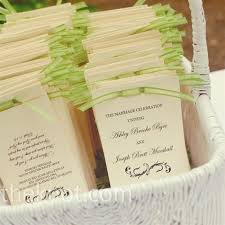 Wedding Programs With Ribbon Bright Green Ribbon Added A Shot Of Color To The Classic Handmade