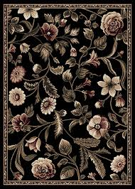 Tropical Area Rugs Transitional Floral Area Rug 8x11 Casual Vines Scrolls Carpet