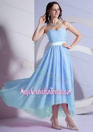 Light Blue High Low Dress High Low Sweetheart Light Blue Graduation Dresses For Middle