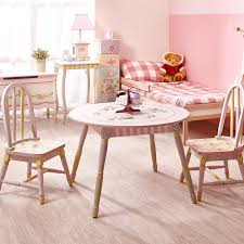 Levels Of Discovery Princess Vanity Table And Chair Set Fantasy Fields Crackled Rose Kids 3 Piece Table And Chair Set