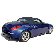 blue nissan 350z 2004 2009 nissan 350z convertible top blue twill grain vinyl