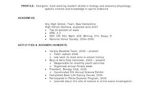 resume for high students applying to college exles of resumes for college applications