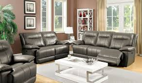 Grey Leather Recliner with Living Room Grey Leather Reclining Sofas Gray Recliner Sofa And