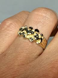 mens rings for sale 14k real gold mens nugget ring mens rings men s
