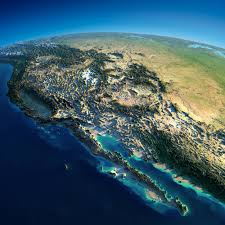 Map Of Western Mexico by Exaggerated Relief Map Of Western North America Maps