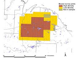 Upper Michigan Map by Som Dnr Moose Survey Results Estimate A Population Increase