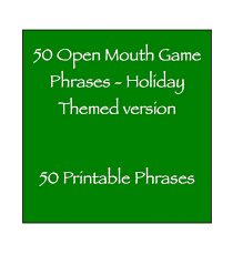 open phrases themed