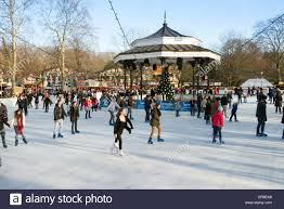 open air skating rink at at winter hyde