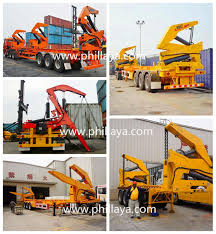 cheap price 3 axle side lifter loader and self loading chassis 20