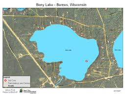 Green Lake Wisconsin Map by Bony Lake Wisconsin