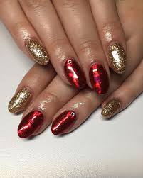 red and gold nail design images nail art designs