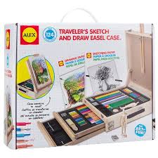 alex toys artist studio traveler u0027s sketch and draw easel case