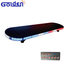 police led light bar police red blue low profile lightbar linear tir shaped led light bar