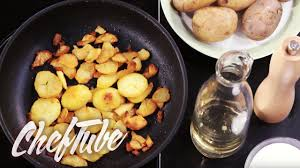 how to make crispy pan fried potatoes more details in the
