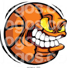 royalty free vector of a logo of a tough basketball by chromaco