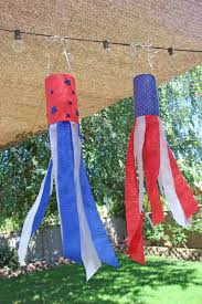 4th of july windsock craft food fun kids