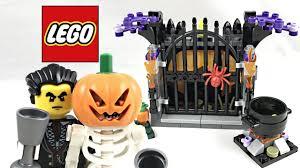 lego halloween haunt review 2017 set 40260 youtube