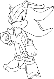 shadow the hedgehog sonic coloring pages coloringstar