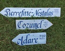 Personalized Garden Decor Directional Sign Etsy