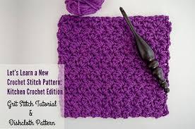 pattern of crochet stitches grit stitch tutorial and dishcloth pattern the stitchin mommy